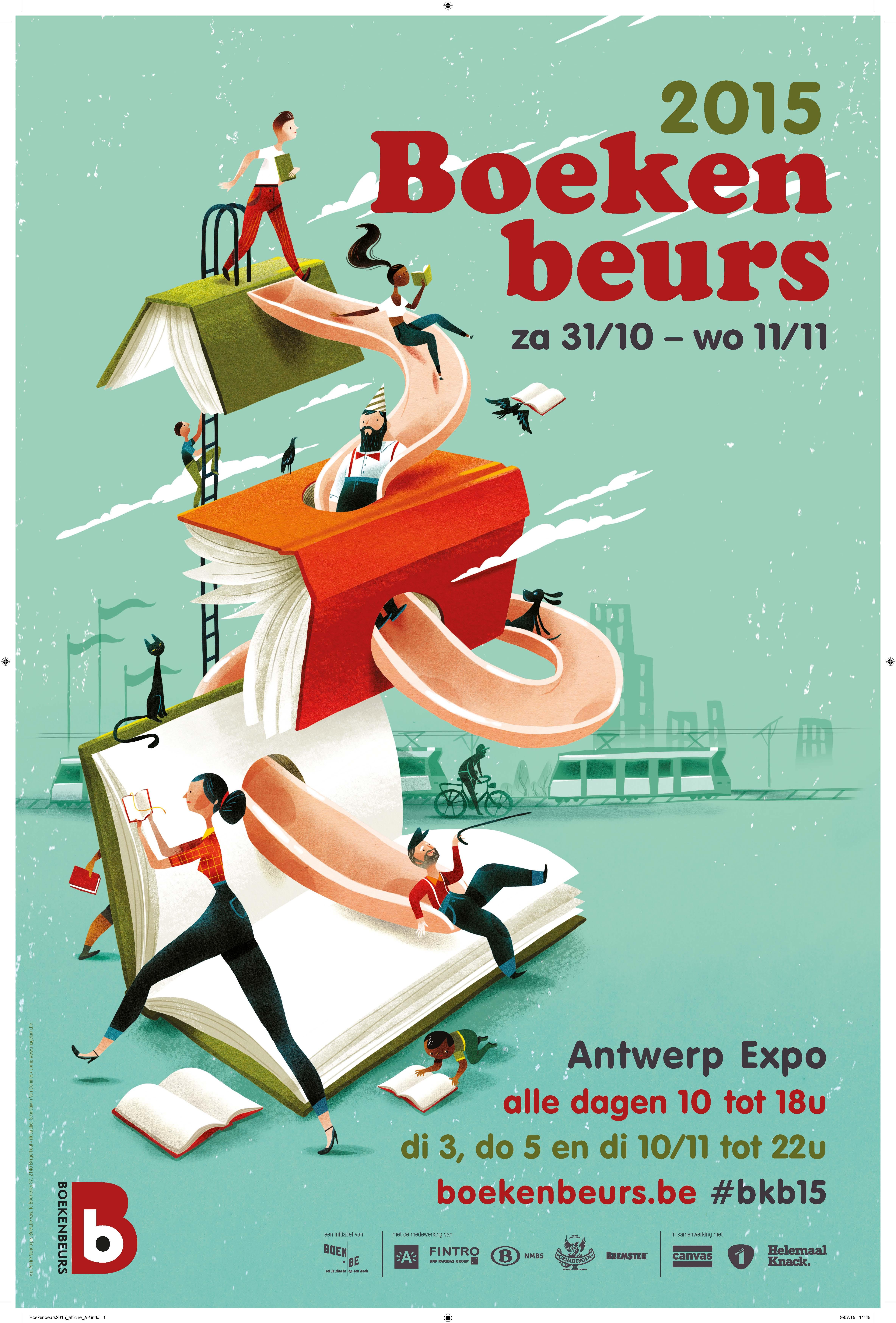 Boekenbeurs Antwerpen poster 2015