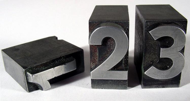 Drukkerstermen - cijfers